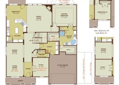 The Brown Floor Plan By Gehan Homes Floor Plan Friday Marr