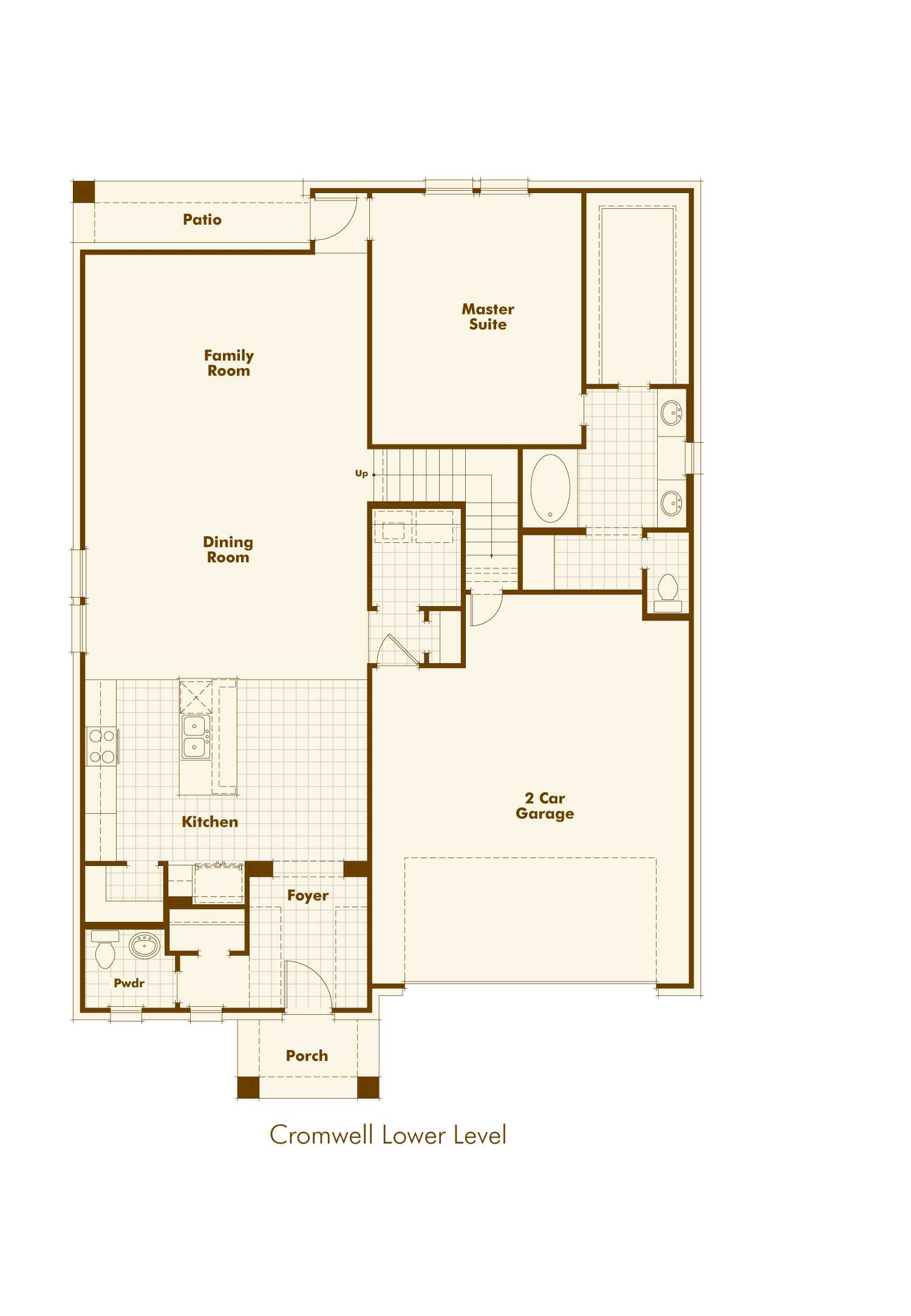Cromwell By Highland Homes In Parkside Floor Plan 1st