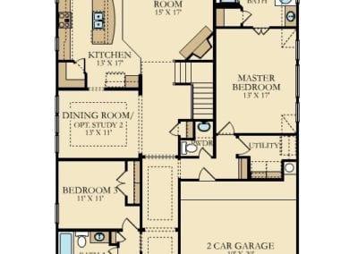 Village Builders Fairfield Plan First Floor Floorplan