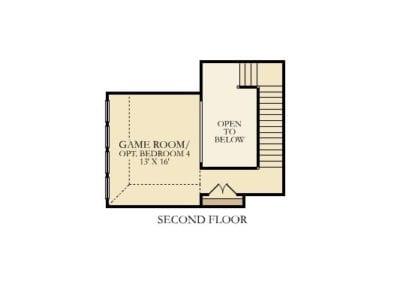 Village Builders Fairfield Plan Second Floor Floorplan