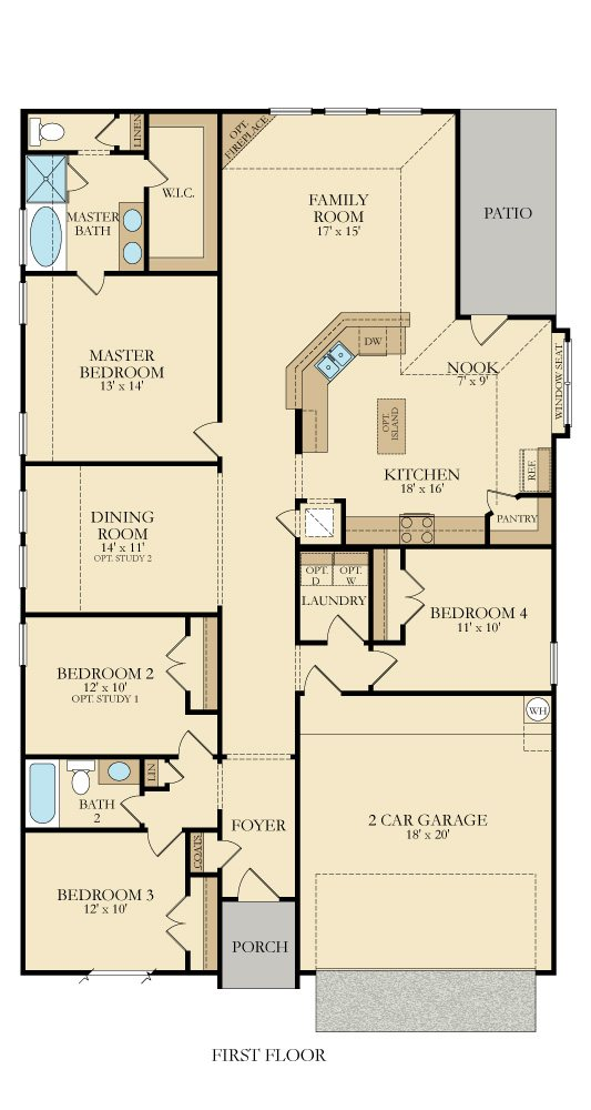 Bluebonnet Floor Plan By Lennar Homes