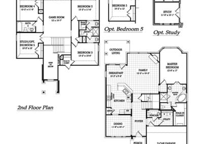 Richardson by chesmar homes floor plan friday marr team for Richardson homes floor plans